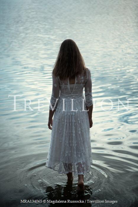 Magdalena Russocka woman entering lake