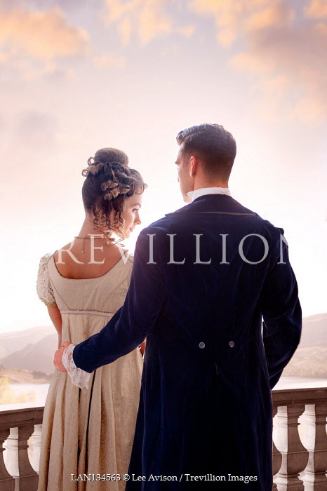 Lee Avison regency couple from behind waist up