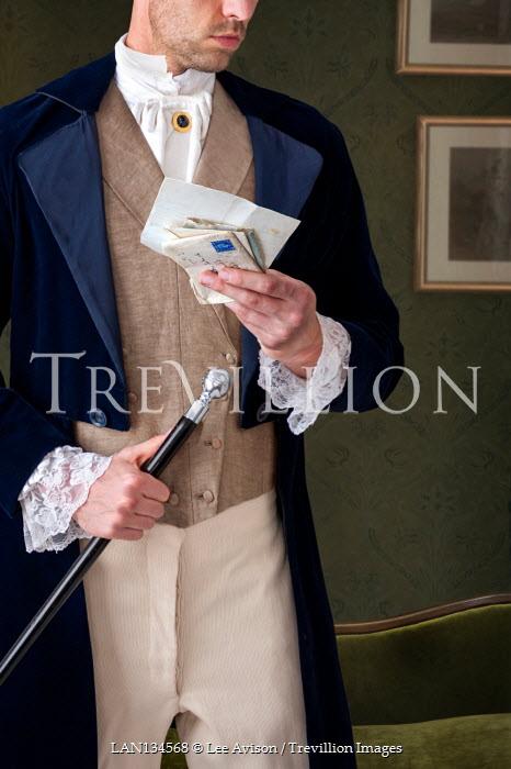 Lee Avison anonymous regency man reading a letter