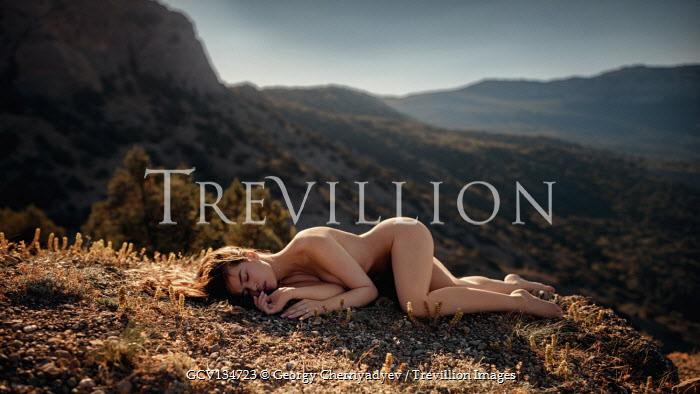 Georgy Chernyadyev Naked woman sleeping on hill