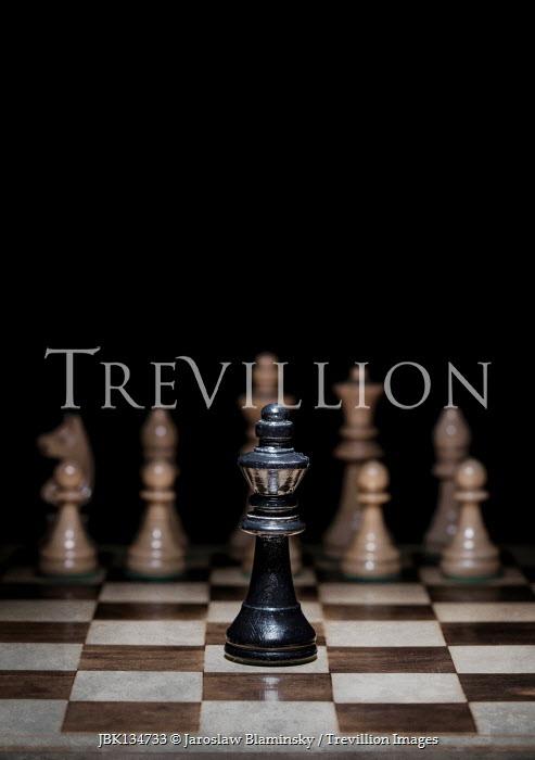 Jaroslaw Blaminsky King chess pieces on board