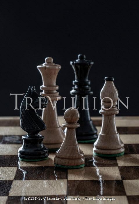 Jaroslaw Blaminsky Pieces on chess board