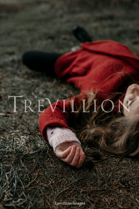 Shelley Richmond GIRL IN RED JACKET LYING ON GROUND