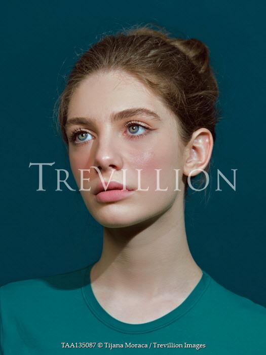 Tijana Moraca SERIOUS YOUNG GIRL WITH BROWN HAIR