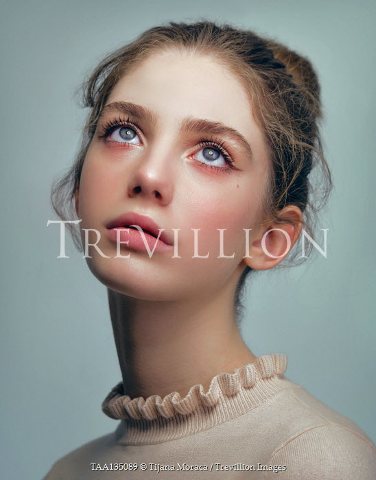 Tijana Moraca SERIOUS YOUNG GIRL WITH BROWN HAIR AND BLUE EYES