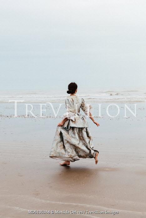 Matilda Delves HISTORICAL BRUNETTE WOMAN RUNNING BY SEA