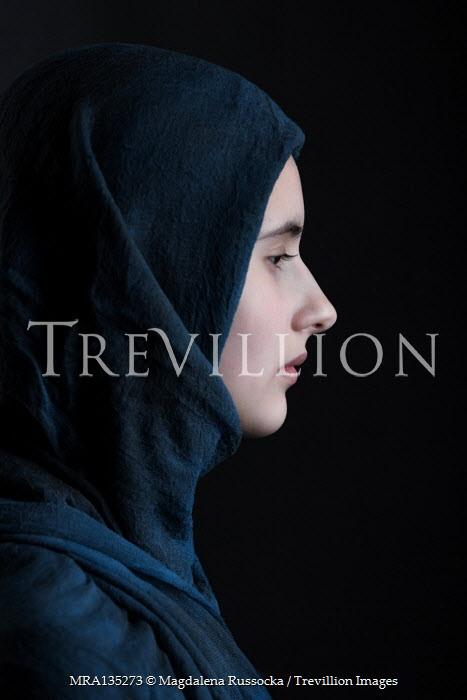 Magdalena Russocka young woman wearing hijab inside