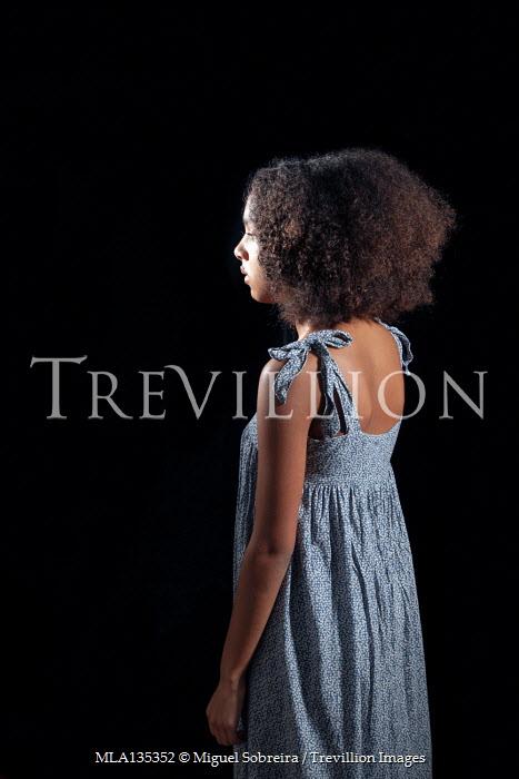 Miguel Sobreira SAD GIRL STANDING IN SUMMER DRESS