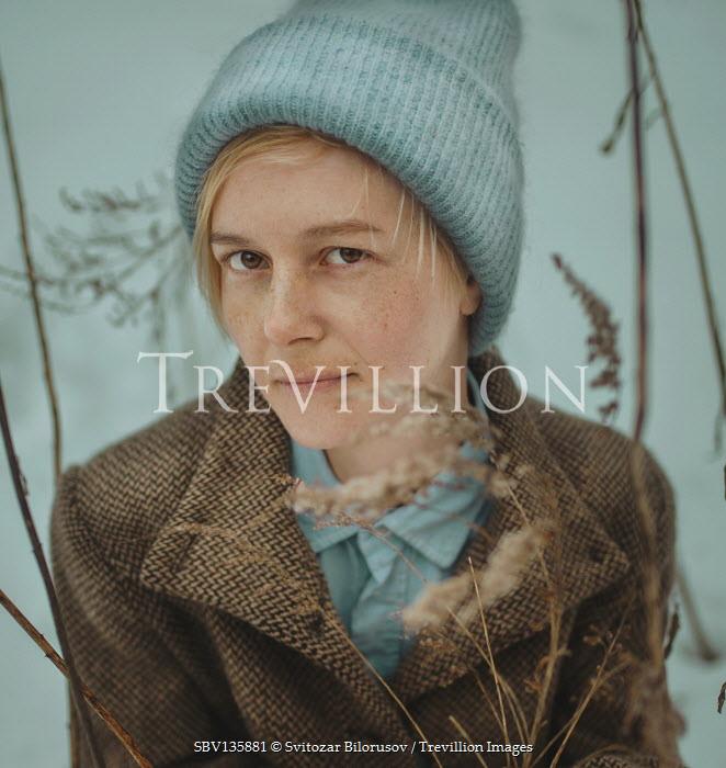 Svitozar Bilorusov BLONDE WOMAN IN WOLLEN HAT AND COAT