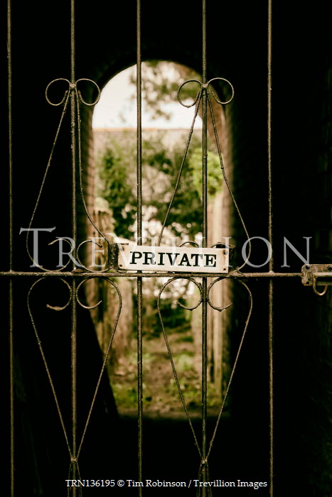 Tim Robinson ALLEYWAY WITH GATE AND PRIVATE SIGN