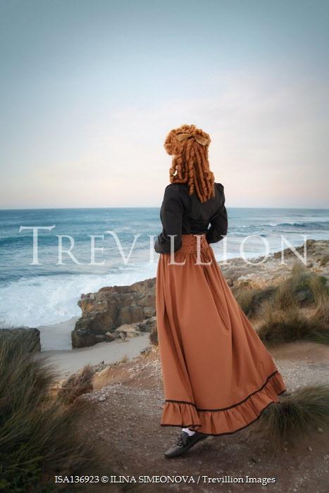 ILINA SIMEONOVA HISTORICAL WOMAN WITH RED HAIR WATCHING SEA