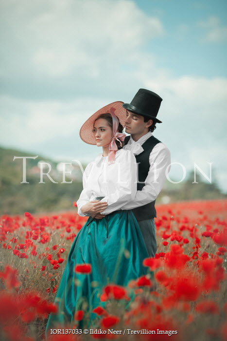 Ildiko Neer Historical couple in poppy field