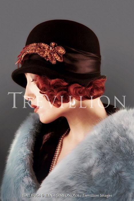 ILINA SIMEONOVA WOMAN WITH SHORT RED HAIR AND CLOCHE HAT