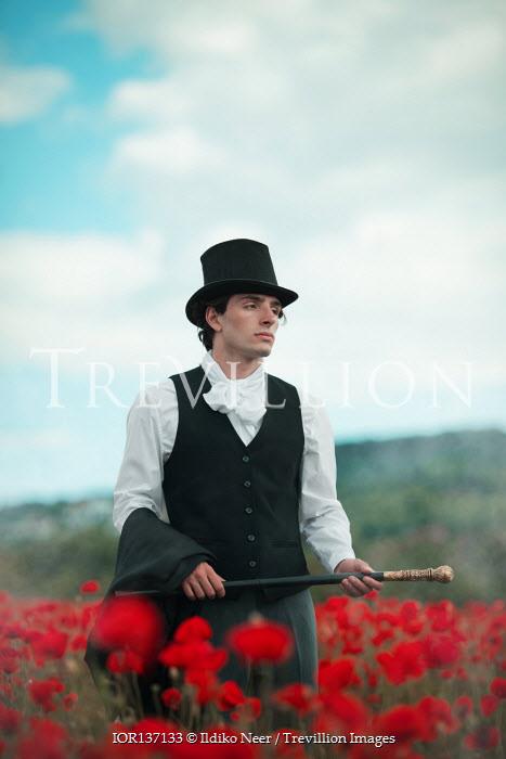 Ildiko Neer Historical man standing in meadow