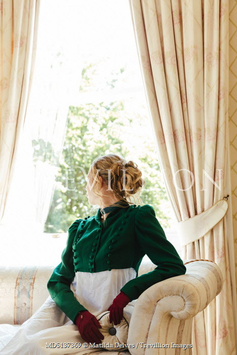Matilda Delves BLONDE HISTORICAL WOMAN SITTING BY WINDOW