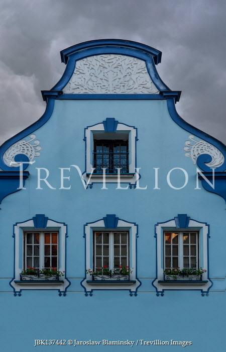 Jaroslaw Blaminsky EXTERIOR OF DECORATIVE BLUE HOUSE