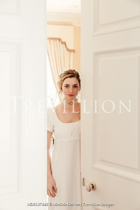 Matilda Delves REGENCY WOMAN IN WHITE BY OPEN DOOR