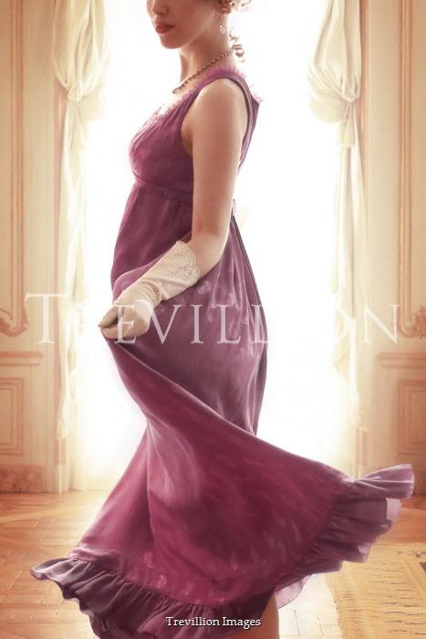 ILINA SIMEONOVA REGENCY WOMAN TWIRLING DRESS BY WINDOW
