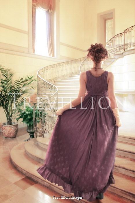 ILINA SIMEONOVA REGENCY WOMAN CLIMBING STAIRCASE IN GRAND HOUSE