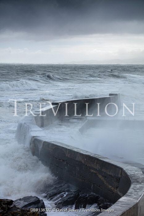 David Baker SEA WALL WITH CRASHING WAVES