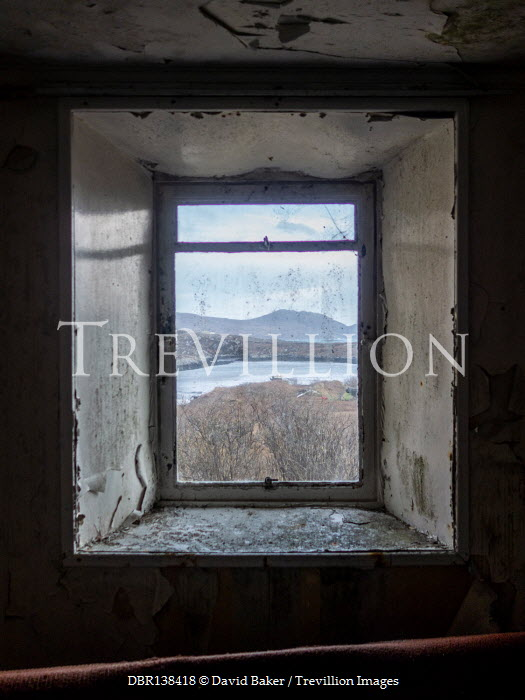David Baker WINDOW OF DERELICT HOUSE BY LAKE