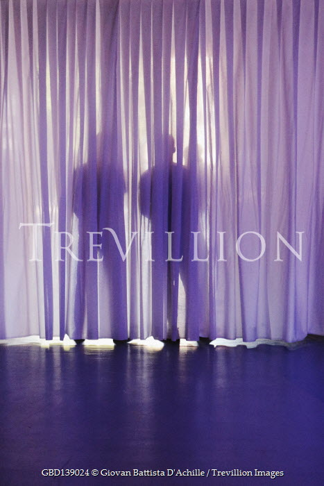Giovan Battista D'Achille SHADOWS OF TWO PEOPLE BEHIND CURTAIN