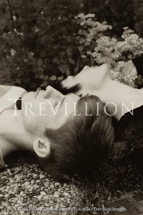 Giovan Battista D'Achille HEADS OF COUPLE LYING ON GROUND
