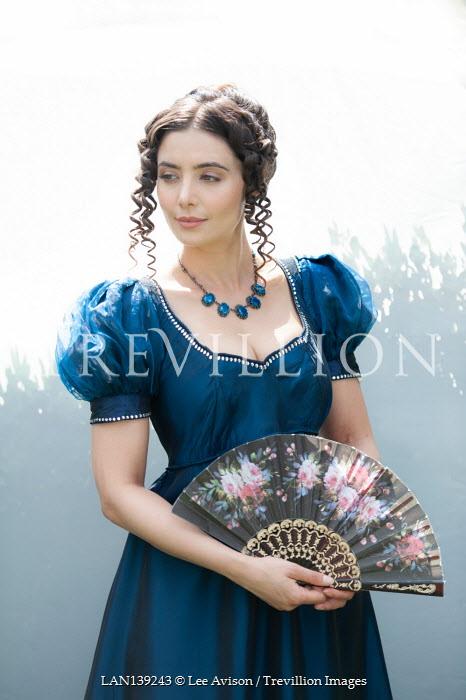 Lee Avison regency woman with fan