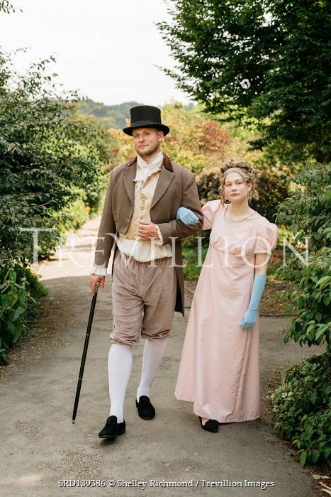 Shelley Richmond REGENCY COUPLE ARM IN ARM IN GARDEN