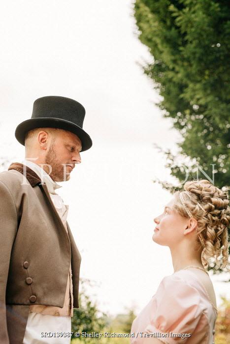 Shelley Richmond REGENCY COUPLE STANDING IN GARDEN