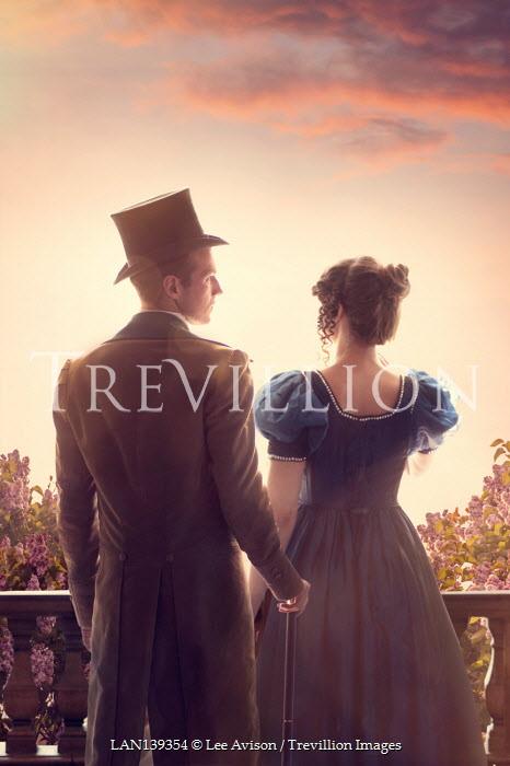 Lee Avison regency couple at sunset