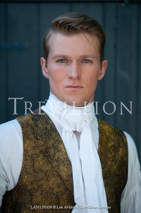 Lee Avison portrait of a handsome regency gentleman