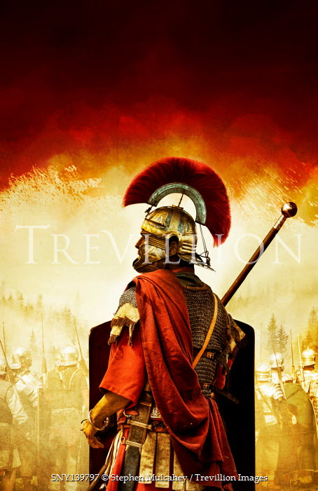 Stephen Mulcahey ROMAN SOLDIER IN ARMOUR WITH ARMY