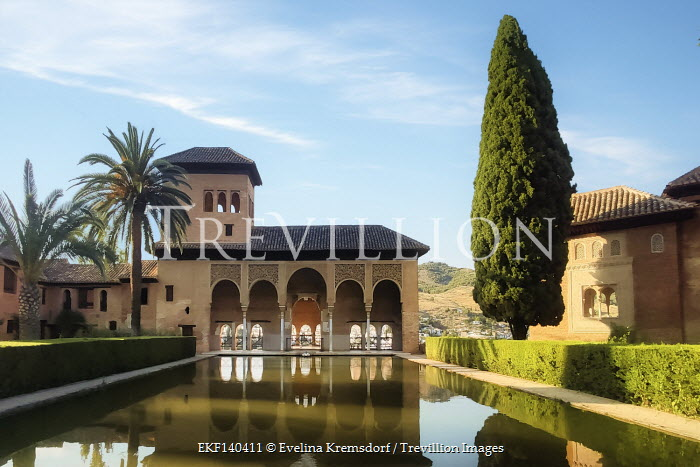 Evelina Kremsdorf SPANISH PALACE WITH POOL IN SUMMER