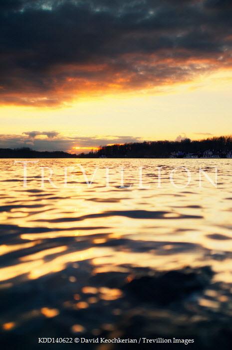 David Keochkerian SUNSET REFLECTIED IN RIPPLING LAKE