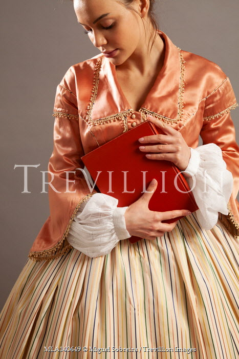 Miguel Sobreira HISTORICAL WOMAN STANDING HOLDING BOOK