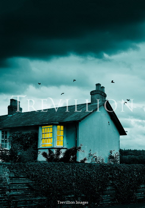 Stephen Mulcahey LIGHT SHINING IN WINDOW OF HOUSE AT DUSK