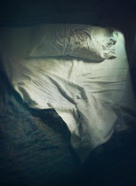 Mark Owen CRUMPLED BED SHEETS INDOORS AT NIGHTTIME Miscellaneous Objects