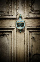 Iain Sarjeant TURQUOISE KNOCKER ON OLD DOOR Building Detail