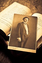 Valentino Sani PHOTOGRAPH OF MAN WITH BOOK Miscellaneous Objects