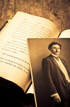 Valentino Sani PHOTOGRAPH OF MAN WITH BOOKS Miscellaneous Objects