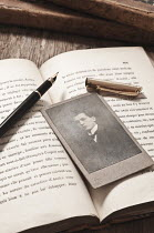 Valentino Sani PHOTOGRAPH WITH BOOKS AND PEN Miscellaneous Objects