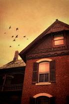 Jill Battaglia OLD BRICK HOUSE AT SUNSET Houses