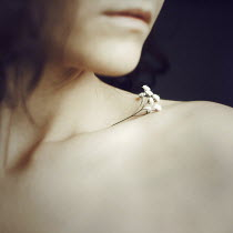 Esmahan Ozkan WOMAN WITH FLOWER IN COLLAR BONE Women