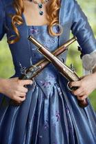 Lee Avison HISTORICAL WOMAN WITH FLINTLOCK PISTOLS Women