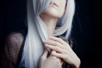 Esmahan Ozkan YOUNG WOMAN WITH WHITE HAIR Women