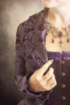 Victoria Davies HISTORIC WOMAN IN PURPLE CORSET Women