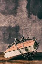 Mohamad Itani BOOK WRAPPED IN BARBED WIRE Miscellaneous Objects