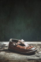 Magdalena Russocka LITTLE GIRLS OLD WORN VINTAGE SHOE Miscellaneous Objects