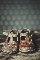 Magdalena Russocka LITTLE GIRLS OLD WORN VINTAGE SHOES Miscellaneous Objects